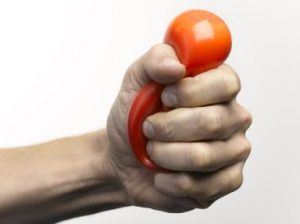 Man Squeezing Stress Ball