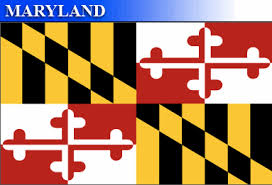 Maryland flag Black and gold with red and white